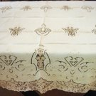 Vintage Linen & Needlepoint Lace HANDMADE Tablecloth, Cloth #87