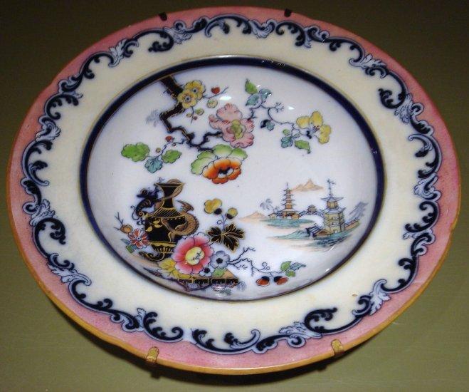 "Ca 1834-54 English Ironstone 10 1/2"" Oriental Bowl with Hanger, William Ridgway"