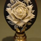 Feminine Rose Cameo Decorative Oval Lamp Finial