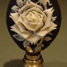 Feminine Rose Cameo Decorative Oval Lamp Finial