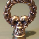Vintage Brass Laurel Wreath & Ribbon Lamp Finial