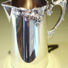 ca 1912 Vintage Ellis Barker Silver Plated Pitcher Grapes