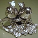Excellent Pair of Silver plated Bird Figural Salt & Pepper Shakers