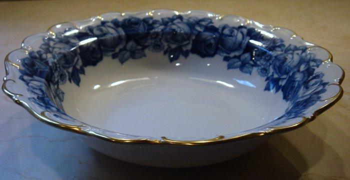 Schumann Bavaria HEIRLOOM Round Vegetable Bowl Blue & White Transferware