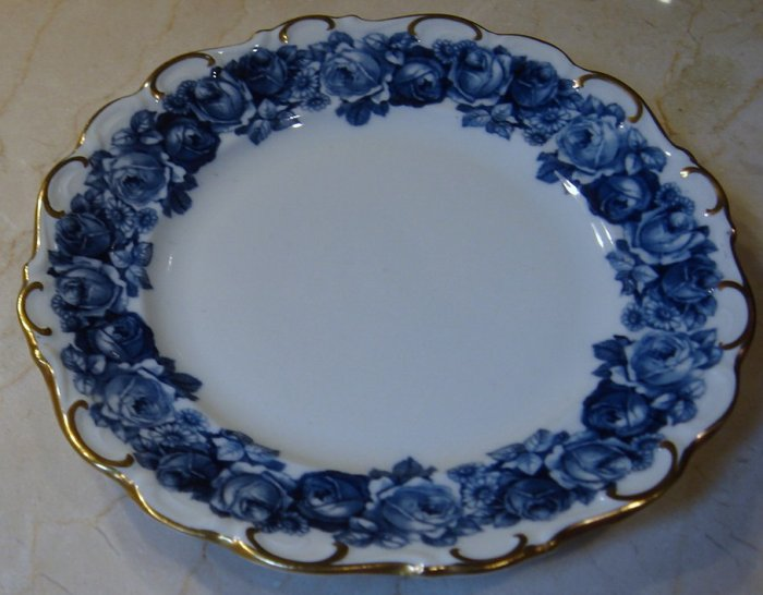 Schumann Bavaria HEIRLOOM Bread & Butter Plate Blue & White Transferware