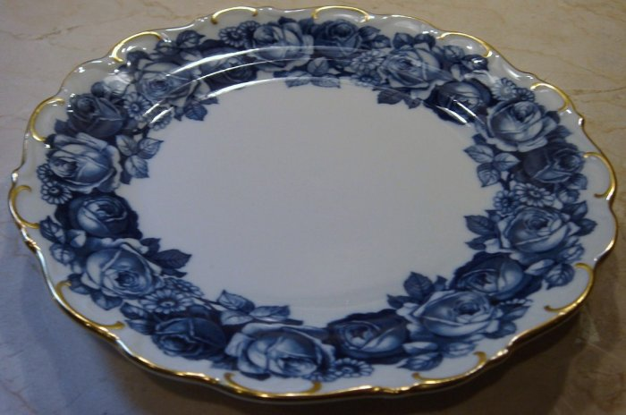 Schumann Bavaria HEIRLOOM Salad Plate Blue & White Transferware