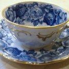 Schumann Bavaria HEIRLOOM Cup and Saucer Blue & White Transferware