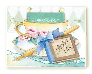 Thinking of You Tea Cup Greeting Card SET of 6