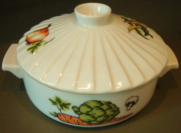 VIintage 80s Decorative Oven to Table Individual Casserole