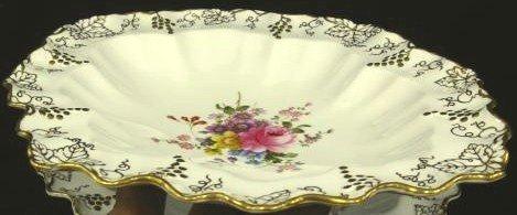 Vintage Royal Crown Derby China Serving Bowl Vine Posie