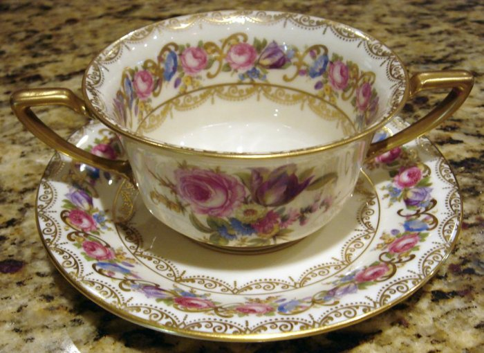 Elaborate VIENNA by Rosenthal Cream Soup Cup and Saucer