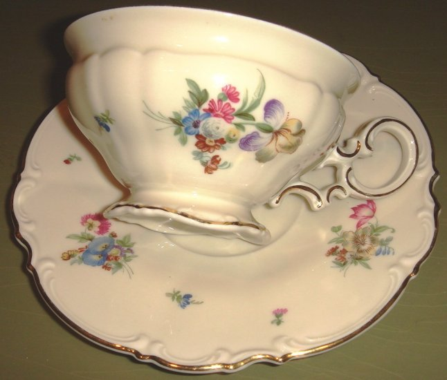 Porcelain Cup & Saucer MAYFAIR by Hutschenreuther