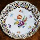 Chateau Dresden Flowers Schumann Pierced Round Bowl