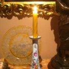 """Impressive Vintage 12"""" Dresden Flowers Candlestick"""