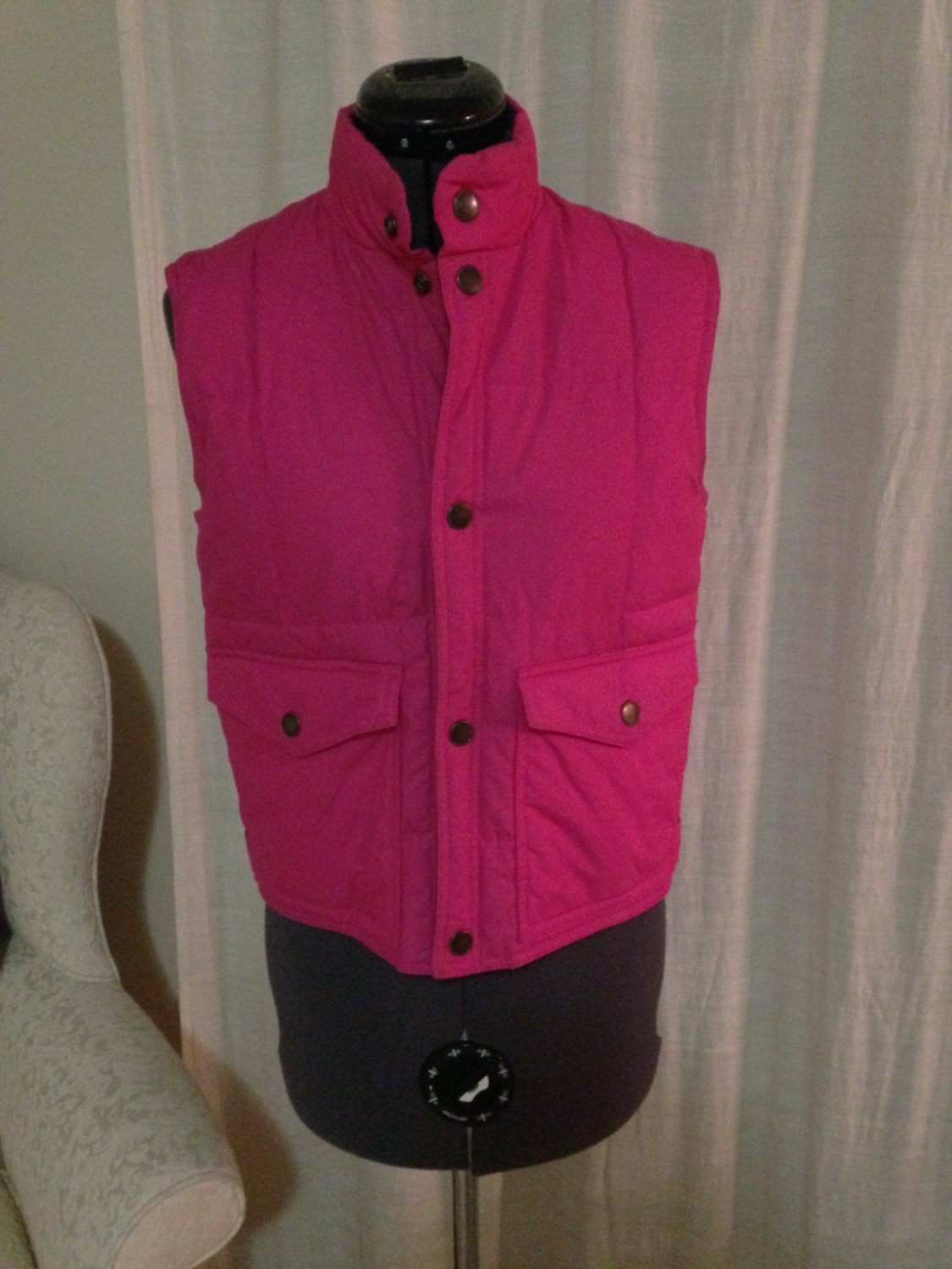 Reversable Pink and Navy Vest, Size S