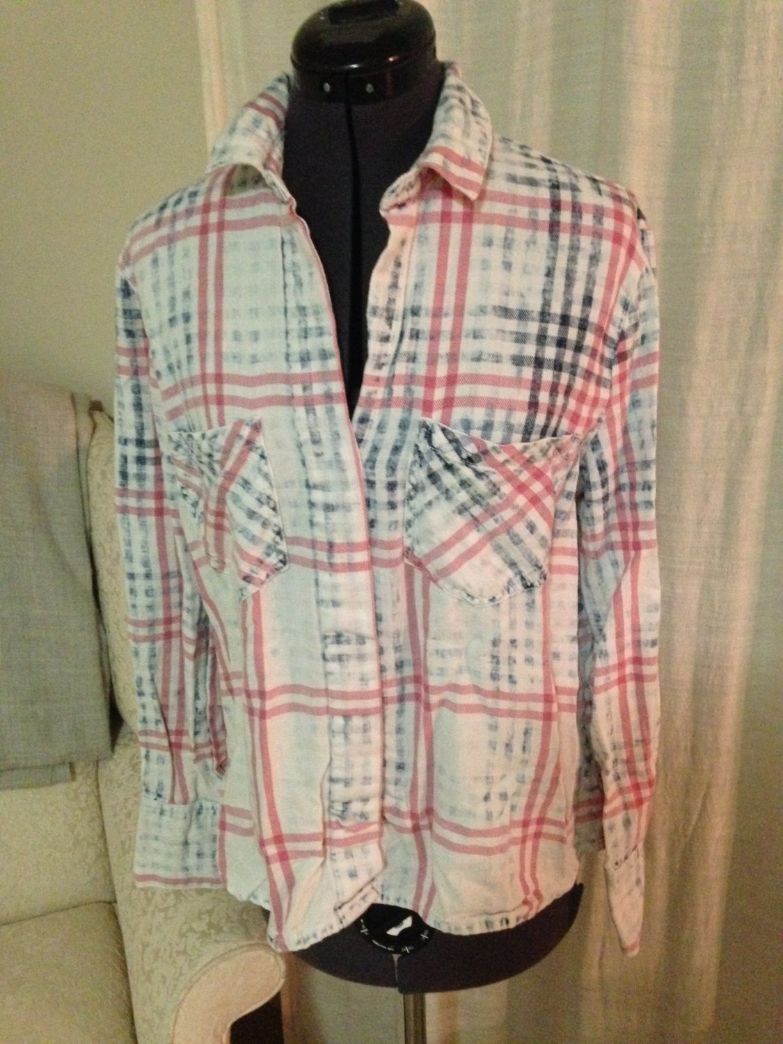 Pastel Flannel Top, Anthropologie, Size S