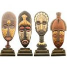 4 piece mask on stand (15 inch)