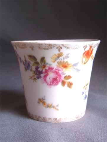 Beautiful Hand Painted Beyer & Boch Cup Floral Design 1890