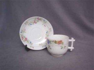 Antique German Presentation Cup & Saucer