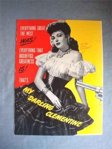 My Darling Clementine Trade Promo Piece Fonda Darnell