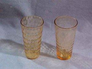 Amber Depression Honeycomb Optic Bubble Juice Tumblers