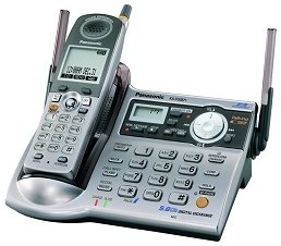 PANASONIC KX-TG5571 - 5.8 GHz FHSS GigaRange Digital Cordless Phone System with Answering Machine