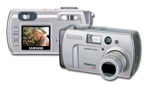 Samsung DIGIMAX 420 - 4.0 Megapixel 4X Digital Zoom Video Out PAL-NTSC- Movie Mode