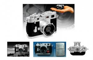 "Minox Leica M3 ""Pocket Size Nostalgia"" Digital Camera - 4.0 Megapixel with Fixed 9.6 mm Lens"