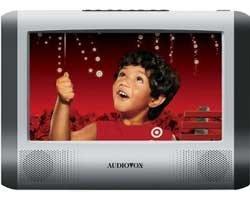 Audiovox Multi Region Portable Tablet Style Slim DVD Player