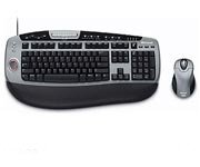 Microsoft BZ5-00002 Optical Desktop Keyboard with Fingerprint Reader & Wireless Optical Mouse