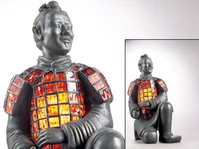 Museo TK-252 Terracotta Warrior Stained-Glass Lamp