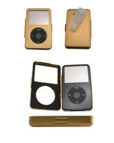 iPod Video Aluminum Gold Case + Belt Clip