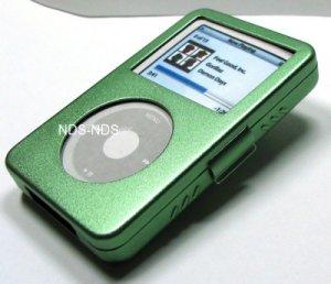 iPod Video Aluminum Green Case + Belt Clip