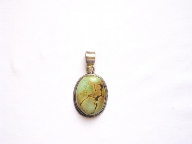 TB017       Oval Turquoise Pendant