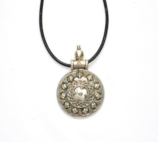 Round Sterling Silver Pendant