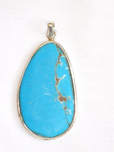 PN020       Turquoise Pendant in Sterling silver