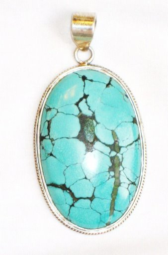 PN021       Turquoise Pendant in Sterling silver