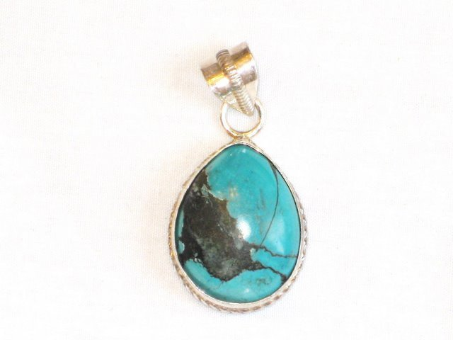 PN043 Turquoise Pendant in Sterling silver - SOLD
