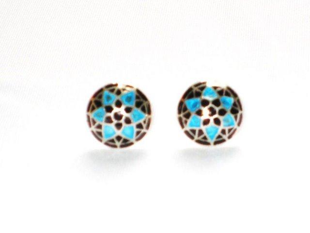 MN191 Enameled Earrings in Sterling Silver