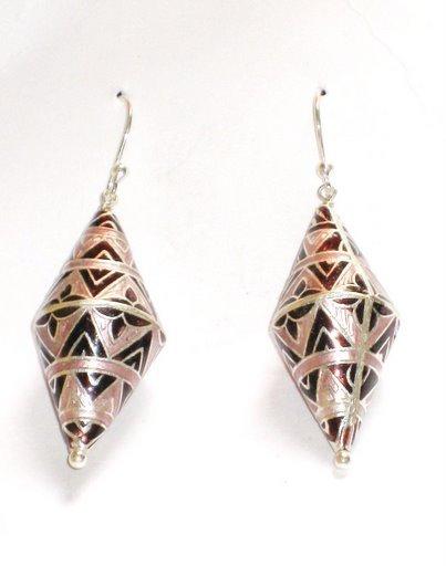 MN194   Enameled Earrings in Sterling Silver