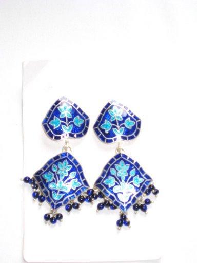 MN195     Enameled Earrings in Sterling Silver