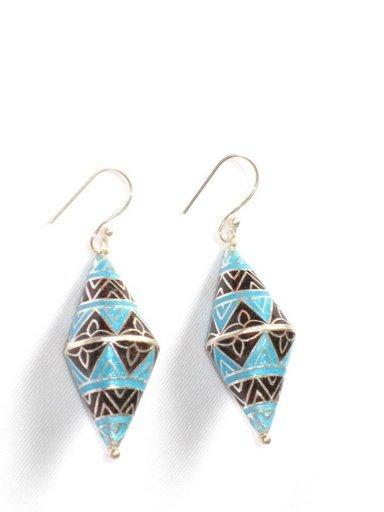 MN197      Enameled Earrings in Sterling Silver