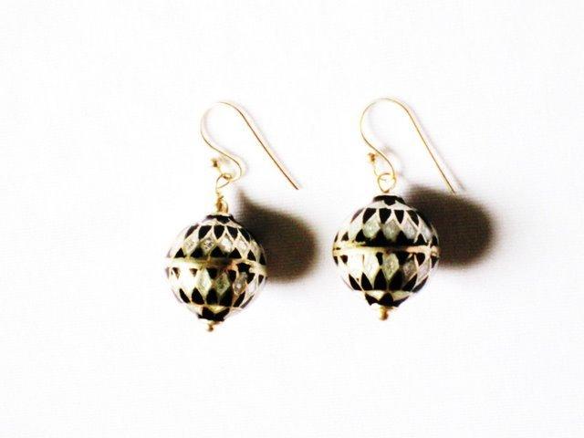 MN200     Enameled Earrings in Sterling Silver