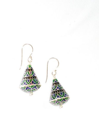 MN208 Enameled Earrings in Sterling Silver
