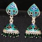 MN214 Enameled Earrings in Sterling Silver