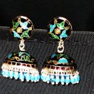 MN216      Enameled Meenakari Umbrella Chandeliers in Sterling Silver