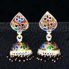 MN230    Enameled Meenakari Umbrella Chandeliers in Sterling Silver
