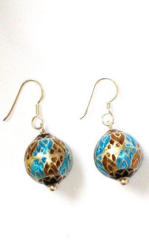 MN234       Enameled Earrings  in Sterling Silver