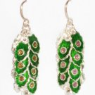 MN246       Enameled Earrings  in Sterling Silver