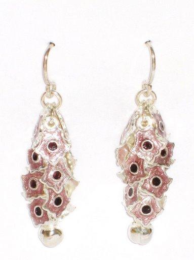 MN248       Enameled Earrings in Sterling Silver
